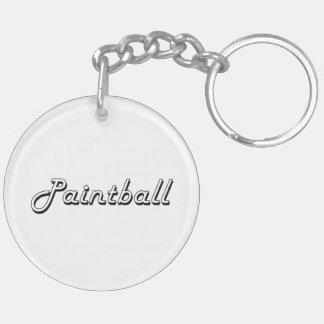 Paintball Classic Retro Design Double-Sided Round Acrylic Key Ring