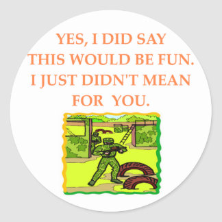paintball classic round sticker