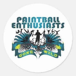 Paintball Enthusiasts Gone Wild Round Sticker