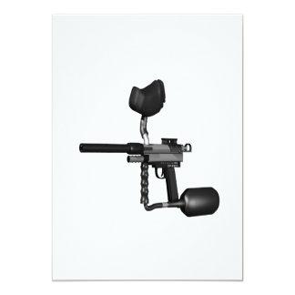 Paintball Gun 2 13 Cm X 18 Cm Invitation Card