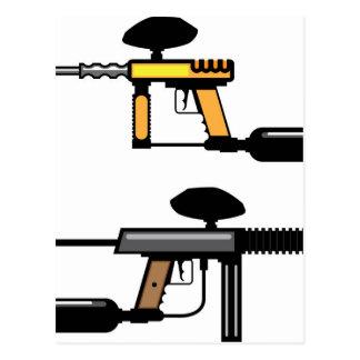 Paintball Gun Postcard