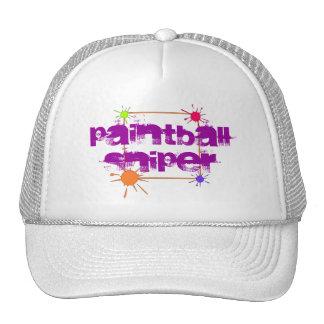 Paintball Hat Sniper Paint Splatters Sport Game