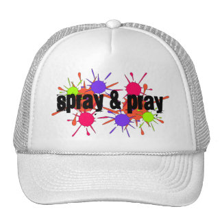 PAINTBALL HAT SPRAY & PRAY SPLATTERS SPORT GAME
