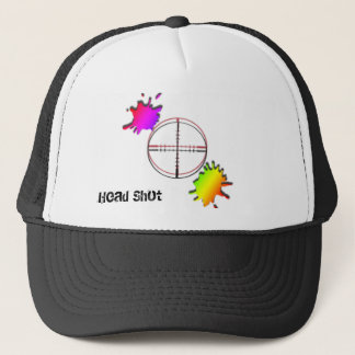 paintball Head Shot Trucker Hat