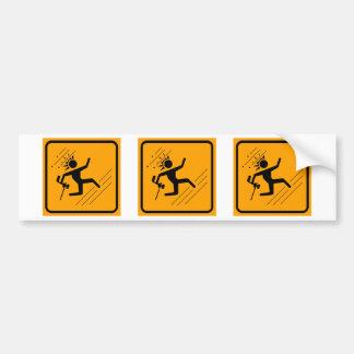Paintball Icon Yellow Diamond Warning Sign Bumper Stickers