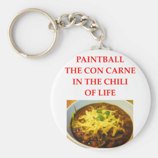 PAINTBALL BASIC ROUND BUTTON KEYCHAIN