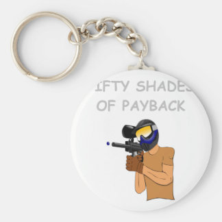 paintball basic round button key ring