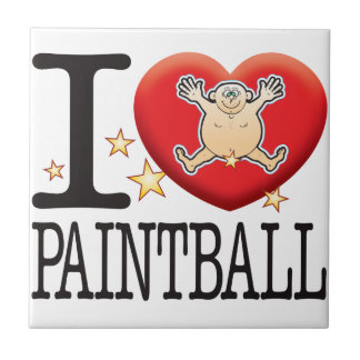 Paintball Love Man Small Square Tile