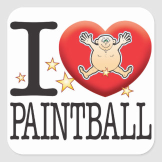 Paintball Love Man Square Sticker