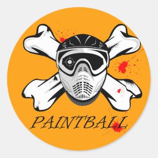 Paintball mask round sticker