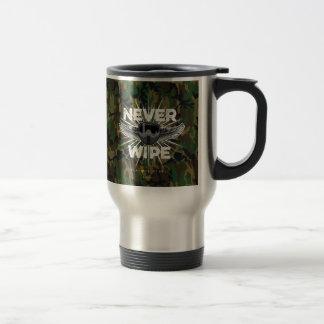 Paintball Never Wipe (camo) Stainless Steel Travel Mug