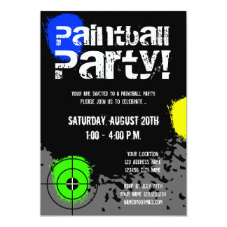 Paintball party invitations | Custom invites