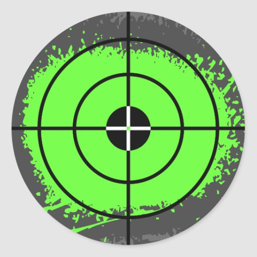 Paintball party stickers   paint splatter target