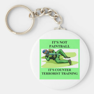 paintball player key chain
