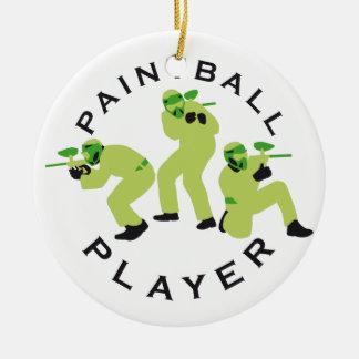 paintball players round ceramic decoration