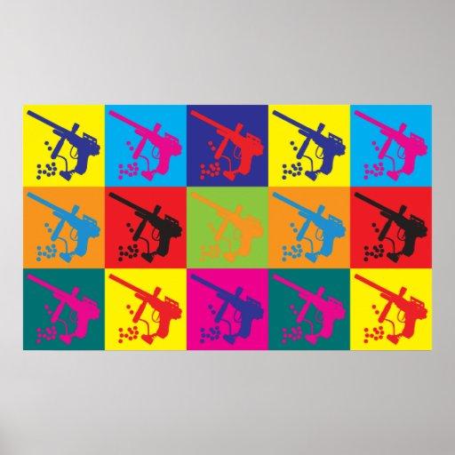 Paintball Pop Art Poster