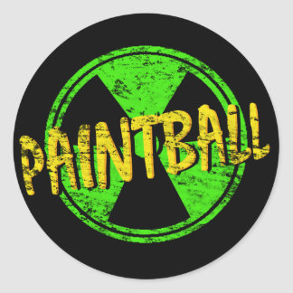 Paintball Radioactive Classic Round Sticker