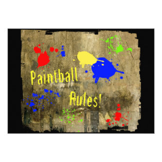 Paintball Rules on a Grunge Wall Announcements