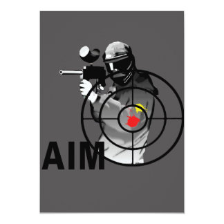 Paintball Shooter - Aim 13 Cm X 18 Cm Invitation Card