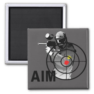 Paintball Shooter - Aim Square Magnet