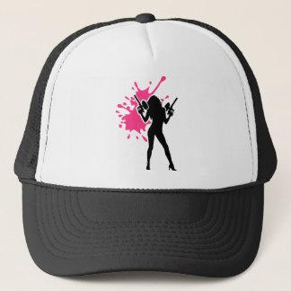 Paintball splash woman girl trucker hat