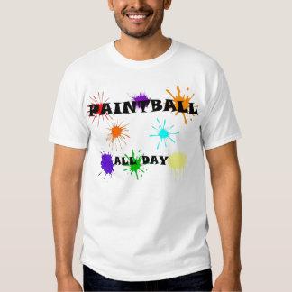 Paintball splat t-shirts