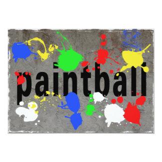 Paintball Splatter on Concrete Wall 13 Cm X 18 Cm Invitation Card