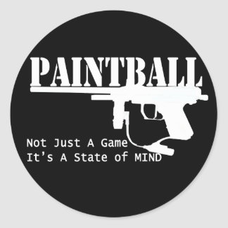Paintball State of Mind Classic Round Sticker