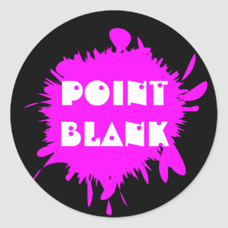 Paintball Themed Paint Splat Gun Shot Round Sticker