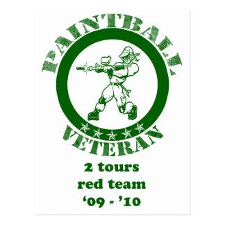 Paintball Veteran Postcard