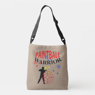 Paintball Warrior Themed Graphic Crossbody Bag