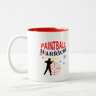 Paintball Warrior Themed Graphic Two-Tone Coffee Mug