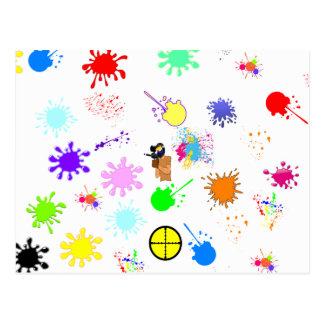 Paintball Wizard Postcard