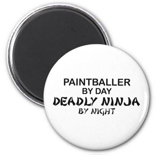Paintballer Deadly Ninja by Night Refrigerator Magnets