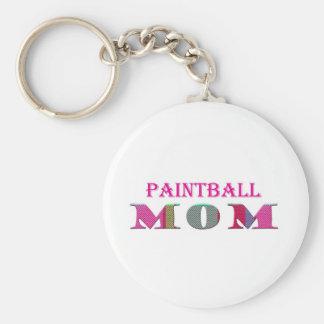 PaintballMom Basic Round Button Key Ring