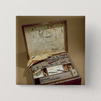Paintbox of John James Audubon 15 Cm Square Badge