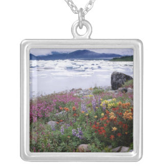 Paintbrush, Lupine, Fireweed. Icebergs Russell Silver Plated Necklace