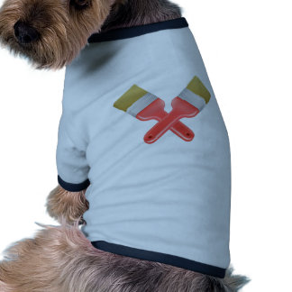 Paintbrushes crossed tools icon doggie shirt