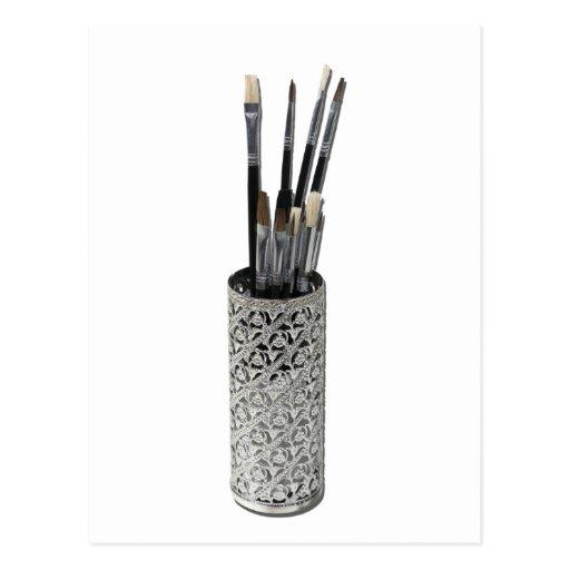 PaintbrushesDryingIntricateHolder123111 Post Card