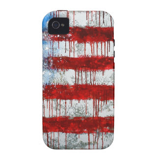 Painted American Flag Case-Mate iPhone 4 Case