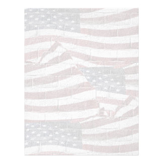 Painted American Flag on Brick Wall Texture Custom Flyer