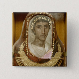 Painted and gilded mummy case of Artemidorus 15 Cm Square Badge