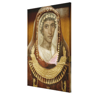 Painted and gilded mummy case of Artemidorus Canvas Print