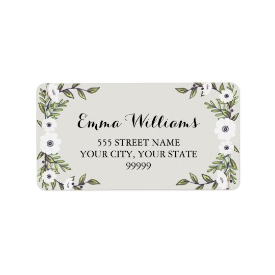 Painted Anemones - address labels