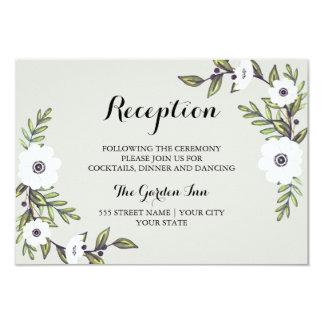Painted Anemones - Reception card 9 Cm X 13 Cm Invitation Card