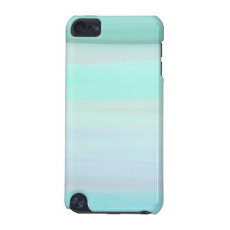 Painted Aqua Stripes iPod Touch 5G Case