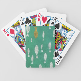 Painted Background Bicycle Playing Cards