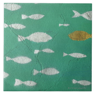 Painted Background Tile