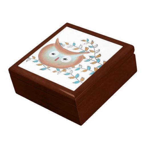 Painted Barn Owl Jewelry Box