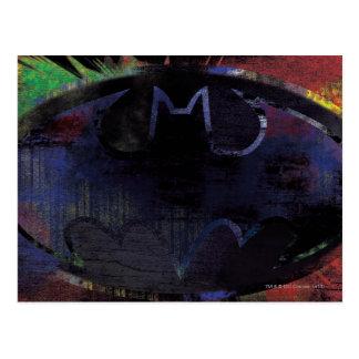 Painted Bat Symbol Postcards